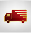 delivery sign red icon on vector image vector image