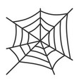 editable stroke spiderweb halloween thin line icon vector image vector image