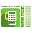 Fax Icon and Medical Longshadow Icon Set vector image vector image