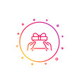 give a gift box line icon present sign vector image