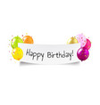 happy birthday banner transparent background vector image vector image