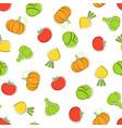 harvest vegetable seamless pattern vector image