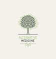 herbal and alternative medicine logo design vector image vector image