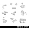 Icon Set Event 3D vector image vector image