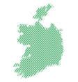 ireland republic map population people vector image vector image