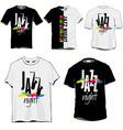 jazz night tshirts vector image vector image