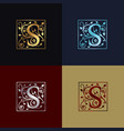 letter s decorative logo vector image vector image