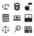 libra icons set simple style vector image