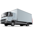 Light commercial truck vector image vector image
