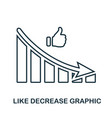 like decrease graphic icon mobile app printing vector image vector image