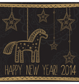 new year horse vector image vector image