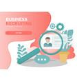 online recruitment concept vector image vector image