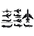 planes icon vector image vector image