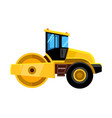 Road roller yellow construction asphalt roller