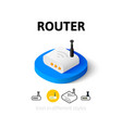 Router icon in different style vector image vector image