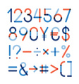 set - Numbers and other symbols vector image