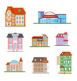 set of a city buildings vector image
