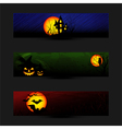 Set of Colorful Halloween Banner
