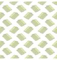 Set of Paper Dollars Seamless Pattern vector image