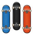 skateboard cartoon isolated design vector image vector image