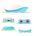 sport stadium and arena building icons vector image vector image