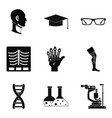 stature icons set simple style vector image vector image
