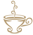 stylized cuptea vector image vector image