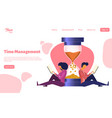 time management concept template for website vector image