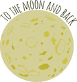 To The Moon vector image vector image