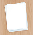 top view of white paper sheets vector image vector image