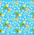 tropical island with palm tree flower plumeria vector image vector image