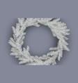 white christmas wreath vector image vector image