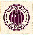 wine shop colored round emblem with bottles vector image vector image