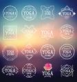Yoga logo sport icons vector image
