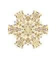 zentangle elegant snow flake ornamental winter vector image