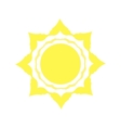Mechanical logo yellow sun vector image
