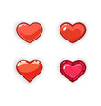 3d heart game design 3d heart game icon vector image vector image