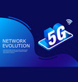 5g new wireless internet wifi connection laptop vector image vector image
