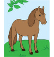 a horse under the tree eps 10 vector image vector image