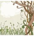 abstract fantasy tree vector image vector image