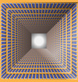 abstract tunnel with checkered walls vector image vector image