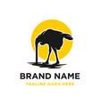 african ostrich logo design eggs vector image