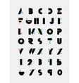 alphabetic font vector image vector image