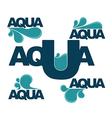 aqua emblems vector image vector image