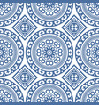 azulejo seamless portuguese tile blue pattern vector image vector image