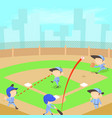 baseball concept cartoon style vector image vector image