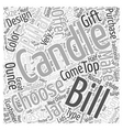 Bills Candles Word Cloud Concept vector image vector image