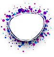 Blue and purple oval background vector image vector image