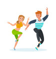 boy and girl modern popular hip-hop dance vector image vector image