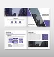 Brochure Leaflet Flyer annual report template set vector image